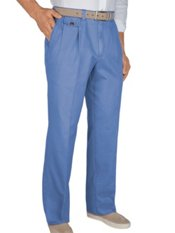 Cotton Chino Pleated Pants