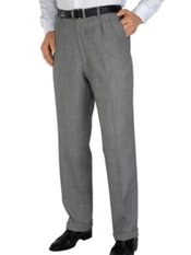 100% Wool Houndstooth Pleated Pants
