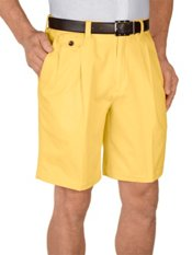 Cotton Chino Pleated Shorts