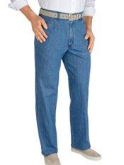 100% Cotton Denim Flat Front Pants