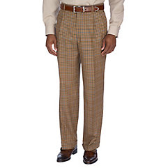 Pure Wool Flannel Pleated Pants $100.00 AT vintagedancer.com