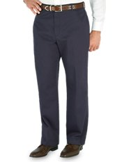 Non-Iron 100% Cotton Chino Flat Front Pants