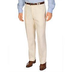 Men's Vintage Style Pants, Trousers, Jeans, Overalls Pure Linen Solid Flat Front Pants $22.00 AT vintagedancer.com