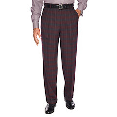 1940s Style Men's Pants and Trousers Pure Wool Flannel Pleated Pants $80.00 AT vintagedancer.com