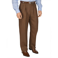 1930s Style Men's Pants Linen Pleated Pants $56.00 AT vintagedancer.com