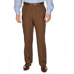 1920s Style Men's Pants & Plus Four Knickers Linen Flat Front Pants $90.00 AT vintagedancer.com