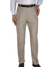 Cotton & Linen Pleated Pants