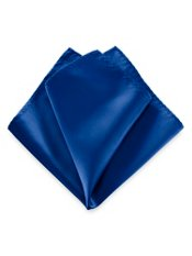 Silk Satin Solid Pocket Square