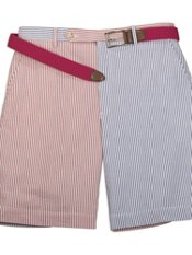 Cotton Seersucker Mix-it-Up Flat Front Shorts