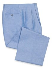 Italian Linen & Cotton Pleated Pants
