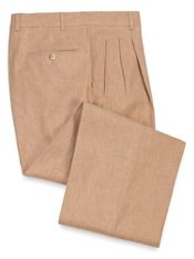 Linen & Cotton Pleated Pants