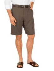 100% Microfiber Flat Front Shorts