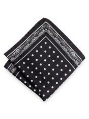 Italian Dot Printed Silk Pocket Square