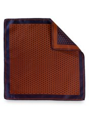 Italian Dot Woven Silk Pocket Square