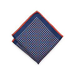 Italian Silk Dots Printed Pocket Square $20.00 AT vintagedancer.com