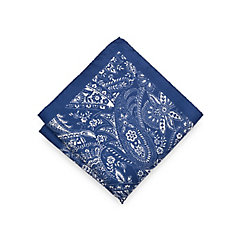 Italian Silk Paisley Printed Pocket Square $20.00 AT vintagedancer.com