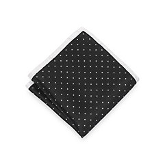 Historyof1920sMensTiesNecktiesBowties Italian Silk Micro Dots Silk Pocket Square $15.00 AT vintagedancer.com