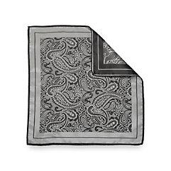 1920sMensTies038BowTies Italian Silk Paisley Woven Silk Pocket Square $25.00 AT vintagedancer.com