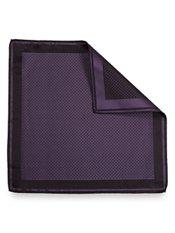 Italian Silk Micro Square Woven Pocket Square