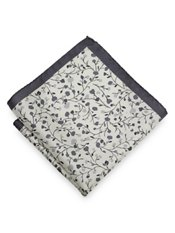 Italian Silk Botanical Printed Pocket Square