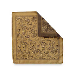 Italian Silk Paisley Woven Pocket Square $25.00 AT vintagedancer.com