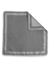 Houndstooth Silk Pocket Square
