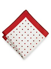 Dots Silk Printed Pocket Square