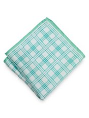 Plaid Silk Printed Pocket Square