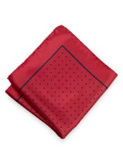 Dots Printed Silk Pocket Square