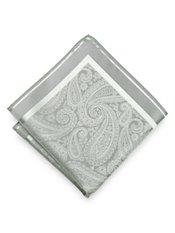 Italian Silk Paisley Woven Pocket Square