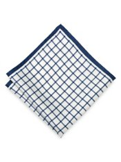Grid Silk Pocket Square