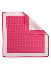 Dot Motif Silk Pocket Square