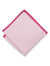Italian Medallion Printed Silk Pocket Square