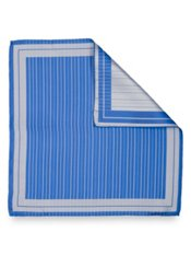 Italian Striped Woven Silk Pocket Square
