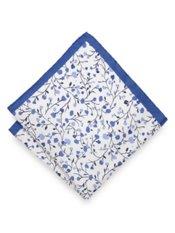 Italian Botanical Printed Silk Pocket Square