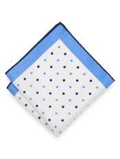 Italian Dots Printed Silk Pocket Square