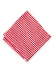 Italian Houndstooth Printed Silk Pocket Square