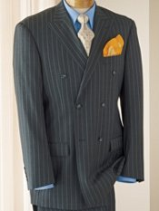 Striped Wool Double-Breasted Suit