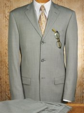 Houndstooth Wool Three-Button Suit