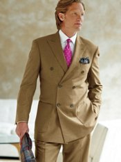 Featherbone Wool Blend Double-Breasted Suit