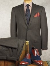 Reda® Luxury Wool Flannel Stripe Suit