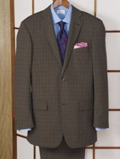 Wool Check Two-Button Suit