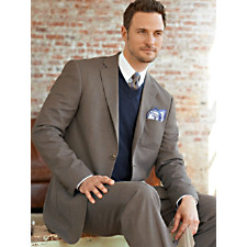 Wool & Silk Two-Button Suit