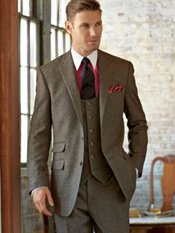 100% Wool Donegal Two-Button Notch Lapel Suit
