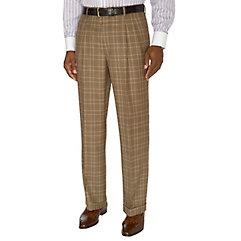 1930s Style Men's Pants Plaid Pure Wool Pleated Suit Separate Pants $43.00 AT vintagedancer.com