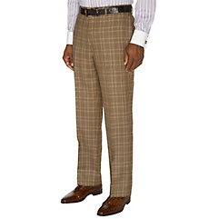VictorianMen8217sClothing Plaid Pure Wool Flat Front Suit Separate Pants $110.00 AT vintagedancer.com