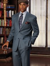 Italian Premium Wool Flannel Two-Button Peak Lapel Suit
