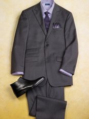 100% Wool Two-Button Peak Lapel Trim Fit Suit