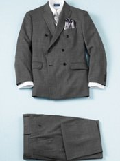 100% Wool Double-Breasted Peak Lapel Suit