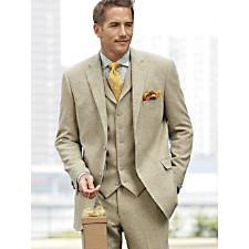 100% Wool Herringbone Two Button Notch Lapel Suit